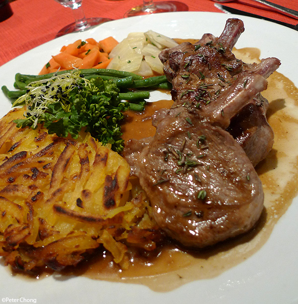 grilled rack of lamb with potato rosti