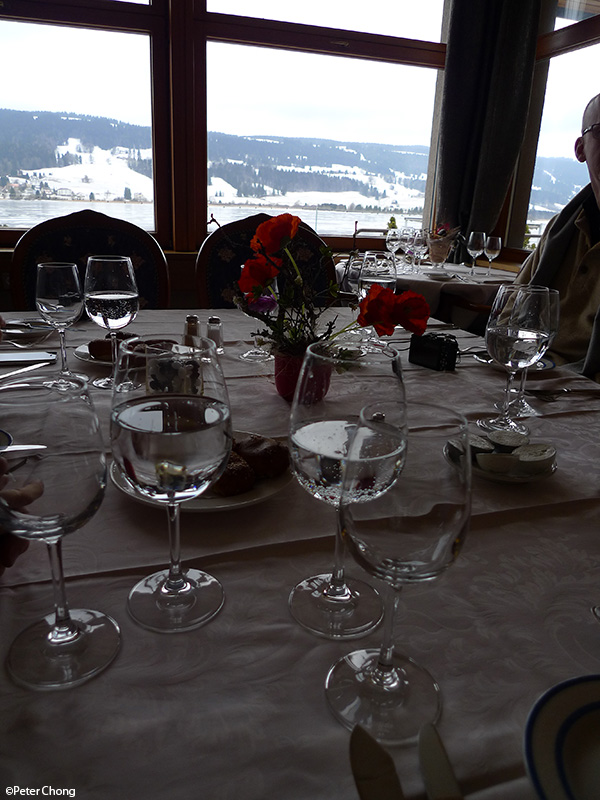 view from the dining room at hotel bellevue le rocheray le sentier