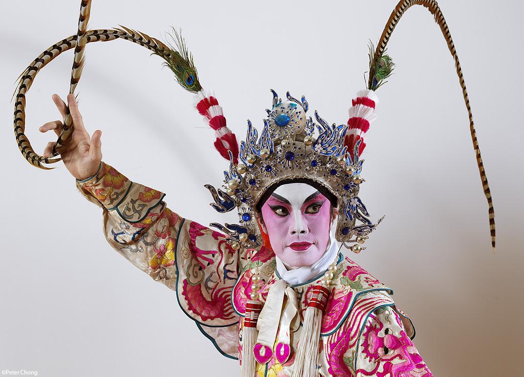 head shot male opera performer in pose
