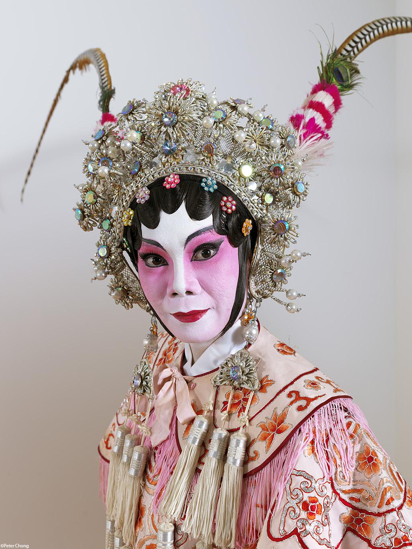 head shot of female opera performer in pose