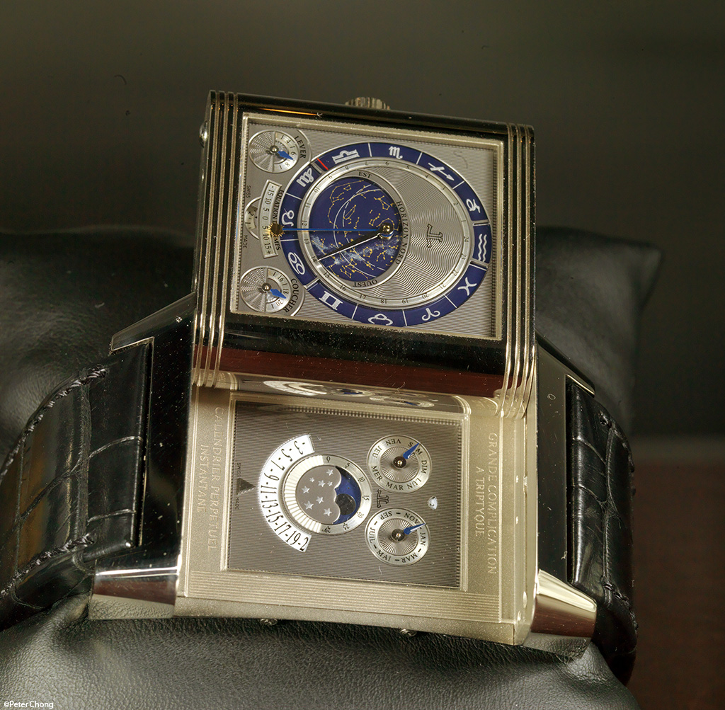 The Jaeger LeCoultre Triptyque Grand Complication, showing the inner dial with instantaneous perpetual calendar