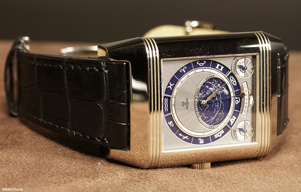 The Jaeger LeCoultre Triptyque Grand Complication, showing the rear with inner dial