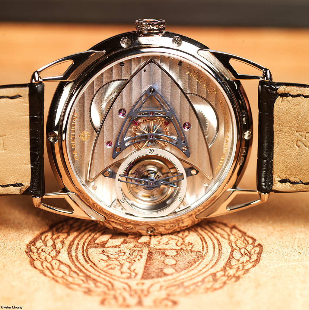 Debethune DB25 tourbillon with jumping seconds movement side