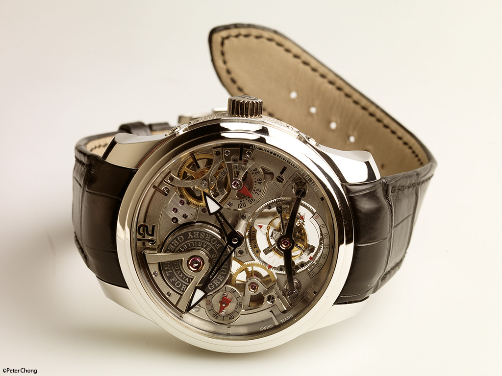 Greubel Forsey Double Tourbillon 30 degree Technique dial side