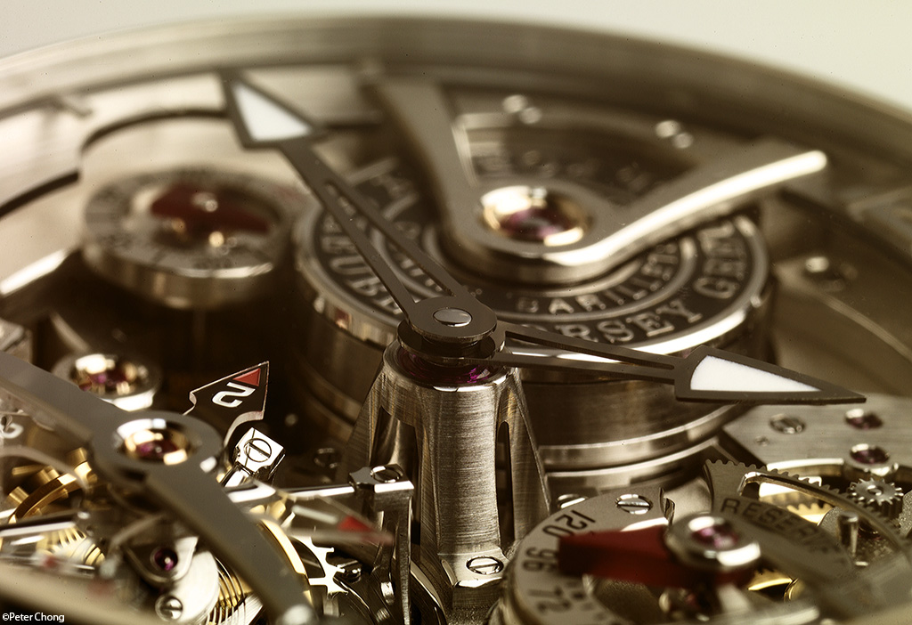 Greubel Forsey Double Tourbillon 30 degree Technique detail showing main pinion