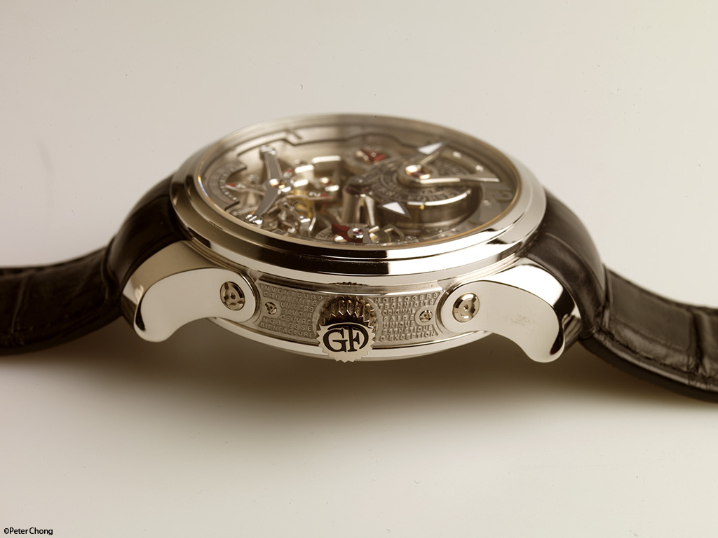 Greubel Forsey Double Tourbillon 30 degree Technique case side showing crown