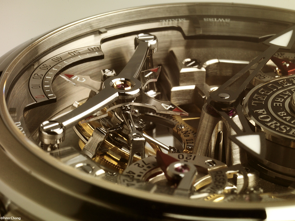 Greubel Forsey Double Tourbillon 30 degree Technique detail of tourbillon and bridge