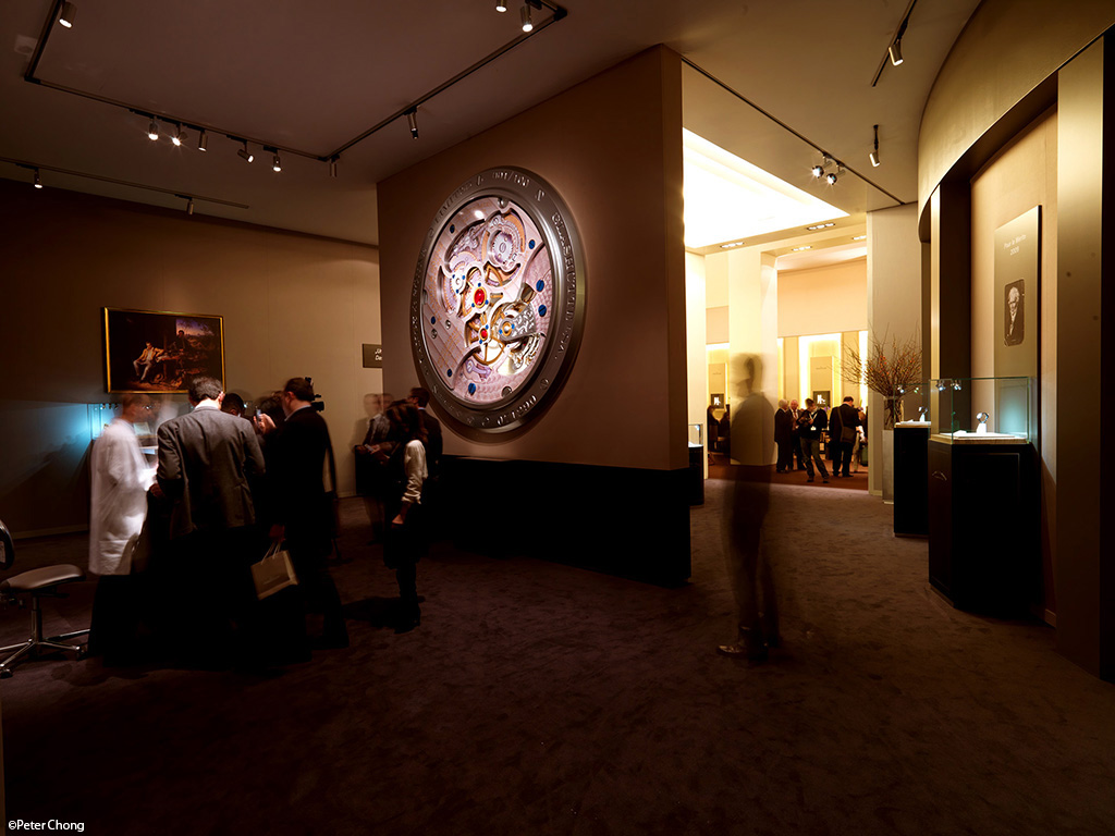 A. Lange & Sohne SIHH 2011 booth, behind the wall, showing Ralph Knoll