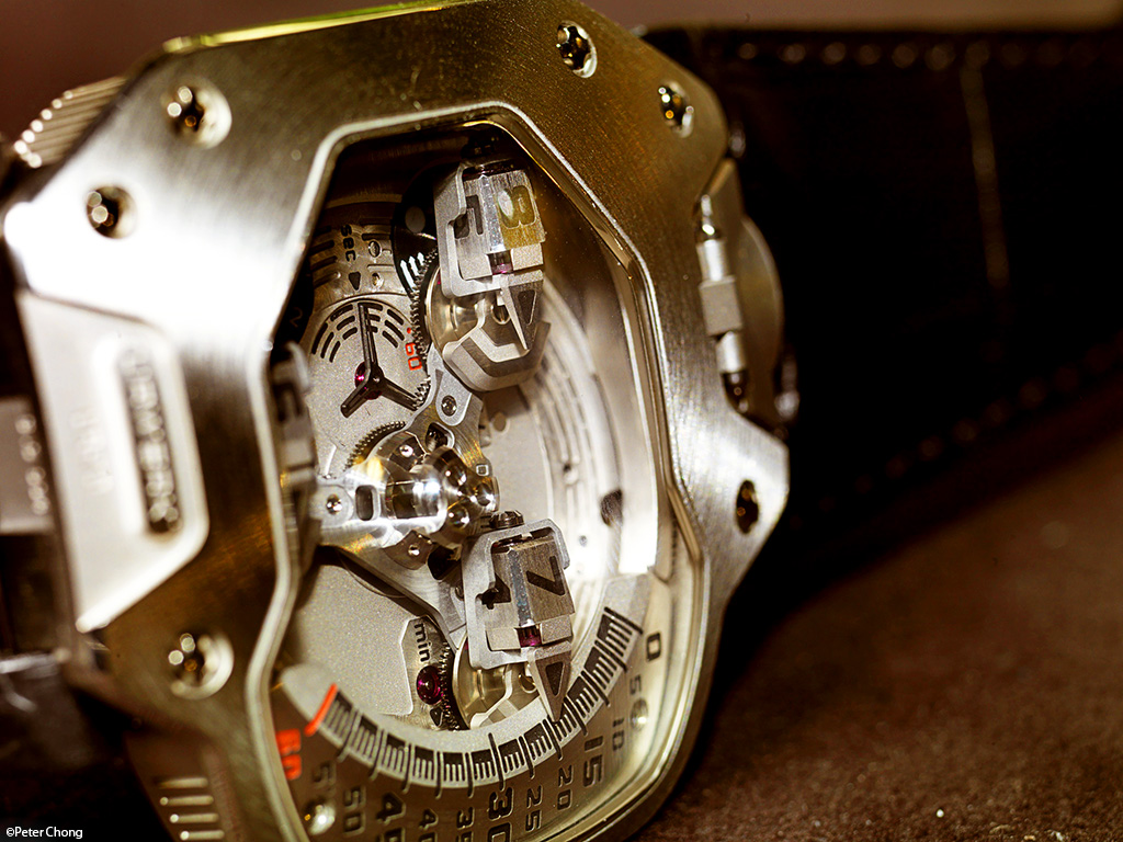 Urwerk UR110 dial side, showing the satelites